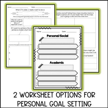 Goal Setting Lesson Plan Unit