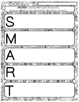SMART Goals for Leadership Activity Pages
