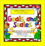 Goals and Scales for First Grade {ELA, Kid Friendly, Picture Scales}