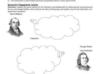 Goals and Principles of the Constitution Entire Unit- Interactive Notebook