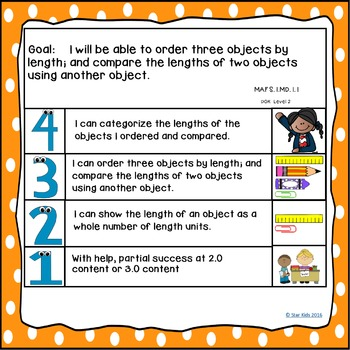 Goals and Scales for First Grade {Math, Kid Friendly, Picture Scales}
