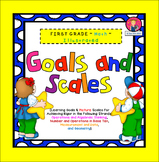 Goals and Scales for First Grade {Math, Kid Friendly, Pict