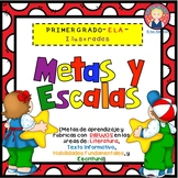 Goals and Scales for First Grade in SPANISH {ELA, Kid Frie