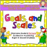 Goals and Scales for Kindergarten {Social Studies, EDITABL