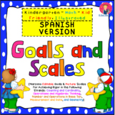 Goals and Scales in SPANISH for Grade K {Math, Kid Friendl