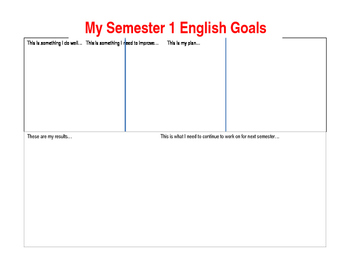 Goals for English Class