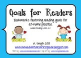 Goals for Readers Bookmark to Support At-Home Reading Levels A-F