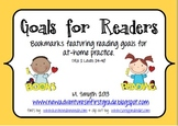 Goals for Readers Bookmarks to Support At-Home Reading for