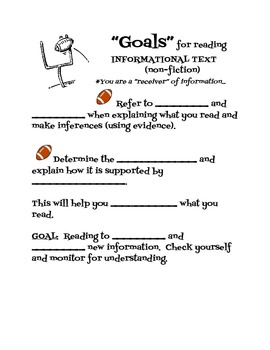 Goals for Reading Informational Text