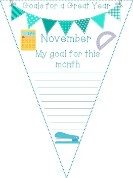 Goals for a Great Year: Monthly Pennants