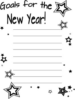 Goals for the New Year Writing Paper