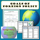 Goals of Foreign Policy Civics Bundle SS.7.C.4.1