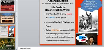Goals of Reconstruction PowerPoint