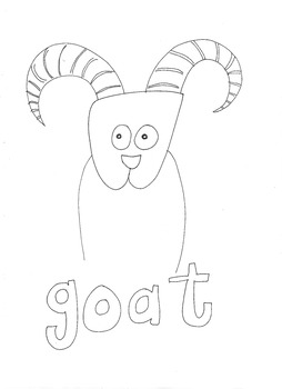 Goat: Animals and Pets: Colouring Page