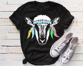 Goat Bandana Boho feathers SVG clipart country goats Texas Farm Milk Gypsy 994S