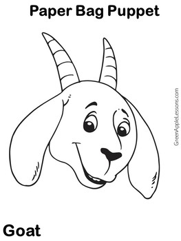 Goat | Billy Goats Gruff | Three Billy Goats Gruff Puppet