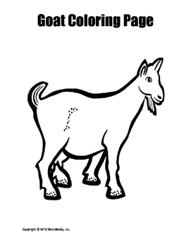 Goat Coloring Page Bundle