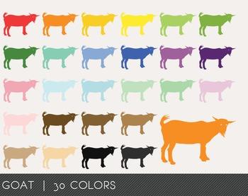 Goat Digital Clipart, Goat Graphics, Goat PNG, Rainbow Goat Digital Files