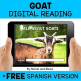 Goat Reading Comprehension for Google Classroom - Distance