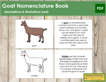 Goat Nomenclature Book - Red