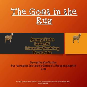 Goat in the Rug Interactive Vocabulary Power Point
