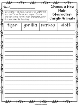 Goatilocks and the Three Bears Book Unit