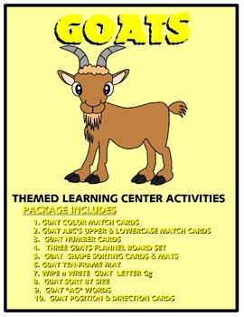 Goats Kit One  - Themed Learning Center Activity Kit