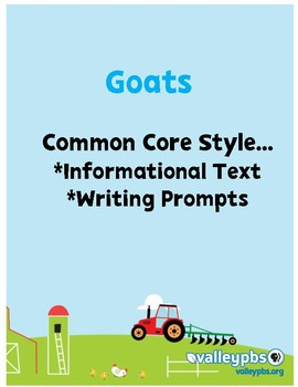 Goats are Great Close Reading PRINT & GO!