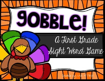 Gobble! A First Grade Sight Word Game