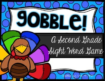 Gobble! A Second Grade Sight Word Game