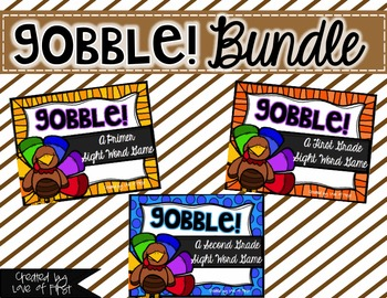 Gobble! A Sight Word Game BUNDLED