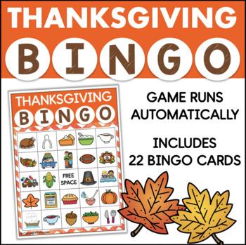 THANKSGIVING Bingo Game for Powerpoint