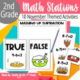 Thanksgiving Math Stations