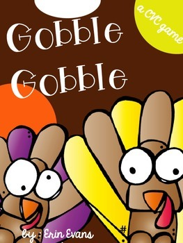 Gobble Gobble - A CVC Game Freebie