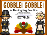Thanksgiving!  Gobble Gobble!  A Math & Literacy Thanksgiving Creation!