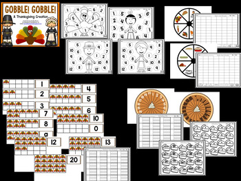 Thanksgiving!  Gobble Gobble!  A Math & Literacy Thanksgiving Creation!
