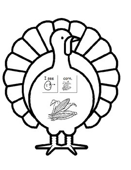 Gobble, Gobble A Thanksgiving Adapted Book & Worksheet (Autism, Early Childhood)