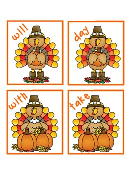 Gobble! Gobble! A Thanksgiving Sight Word Game