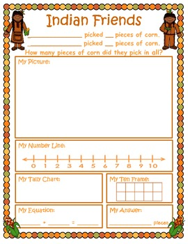Thanksgiving Addition Word Problems