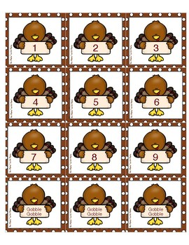 Gobble Gobble! A Thanksgiving Themed Higher Number Game