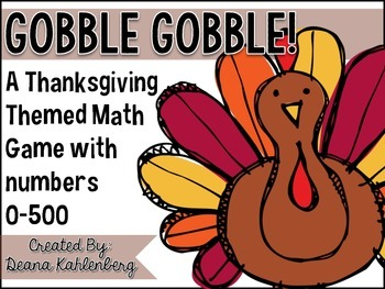 Gobble Gobble {A Thanksgiving Themed Math Card Game}
