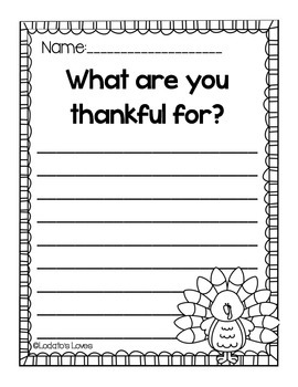 Gobble, Gobble: A turkey craft with writing prompts