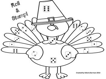 Gobble, Gobble!  ABC & Math fun for Thanksgiving (Spanish included as well!)