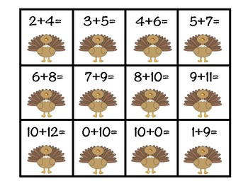 Gobble, Gobble, Addition Strategy Sort