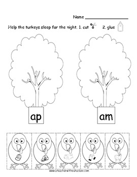 Gobble, Gobble.  Ap and Am turkeys need help making words!