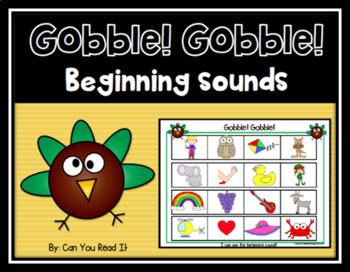 Gobble! Gobble! Beginning Sounds