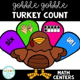 Gobble Gobble {Build A Turkey} Turkey Count Thanksgiving Math Centers