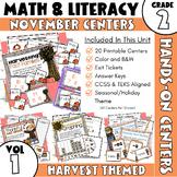 November Centers: Second Grade Math and ELA