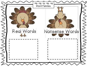 CVC Word Family Center {Fall Theme}