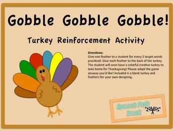 Gobble Gobble Gobble--Turkey Reinforcement Activity